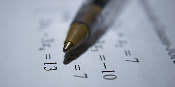 Classes de matemàtiques.